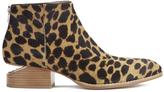 Alexander Wang Women's Kori Leopard Printed Haircalf Ankle Boots Black/Natural