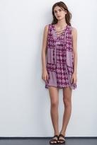 Sarita Mali Gauze Print Lace Up Dress
