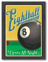 Americanflat Anderson Design Group ''Eight Ball'' Framed Wall Art