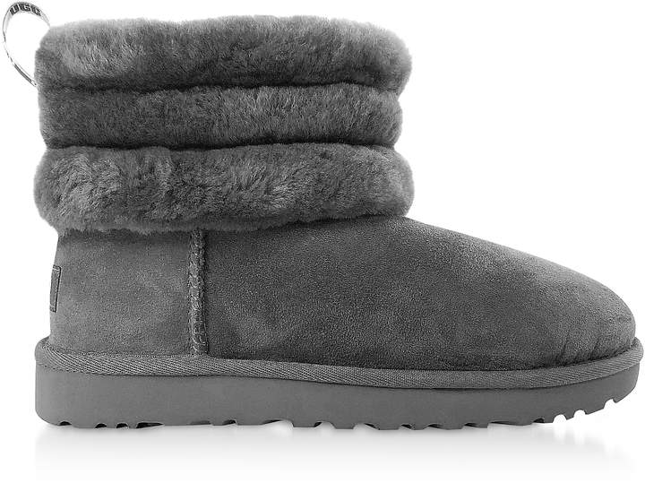 c3ce8145ac8 Charcoal Fluff Mini Quilted Boots