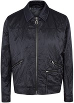 Lanvin Navy Crinkle-effect Satin Jacket