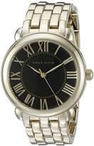 Anne Klein Women's AK/1926BKGB Gold-Tone Bracelet Watch