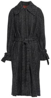 Missoni Herringbone Wool And Cotton-blend Jacquard Coat