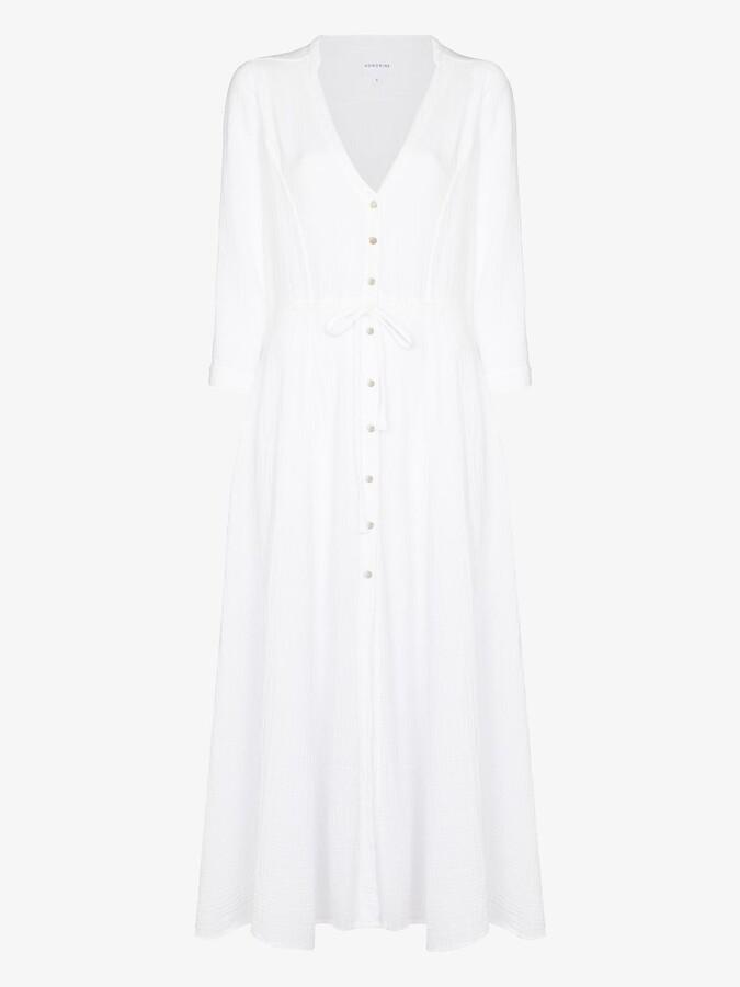 Thumbnail for your product : HONORINE White Georgia Cotton Midi Dress