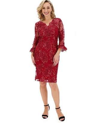 Gina Bacconi 3/4 Sleeve Lace Dress