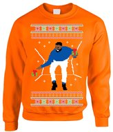 Allntrends Adult Crewneck 1-800 Hotline Bling Ugly Christmas Sweater (S, )