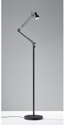 "Symple Stuff Denice 47"" LED Task Floor Lamp Finish: Black"