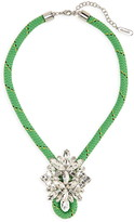 Stella & Dot Know the Ropes Braid & Crystal Statement Necklace