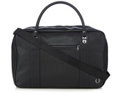 Fred Perry Black Scotch Grain Overnight Bag