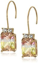 Betsey Johnson Marie Antoinette Tourmaline Faceted Stone Drop Earrings