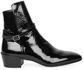 Saint Laurent Clementi Patent Leather Block Heel Booties