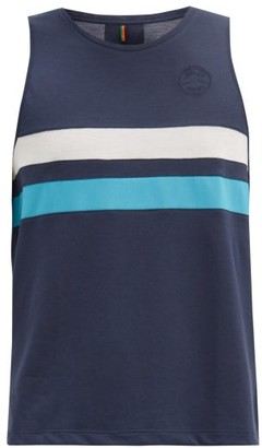 Iffley Road Lancaster Striped Technical-jersey Tank Top - Navy Multi