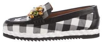 Dolce & Gabbana Embellished Gingham Loafers