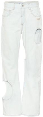 Off-White Cutout boyfriend jeans