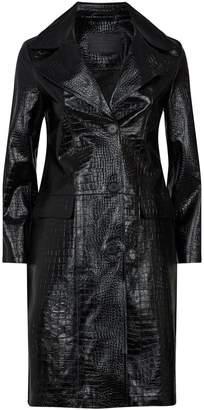 AllSaints Ali Croc-Embossed Leather Jacket