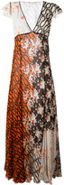 Amen multi pattern dress - women - Silk - 40