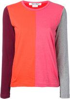 Comme des Garcons colourblock long-sleeve top - women - Cotton - XS