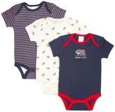 Cutie Pie Baby Navy & Cream Bear Bodysuit Set - Infant