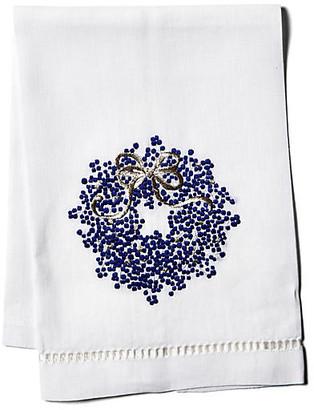 Hamburg House Berry Wreath Linen Guest Towel