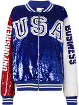 Ashish USA Unfinished Business Sequin Bomber Jacket