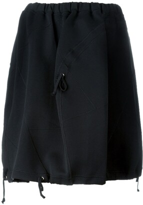 Comme Des Garçons Pre Owned Drawstring Detail Cocoon Skirt