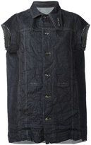 Rick Owens distressed sleeveless denim jacket - women - Cotton - S