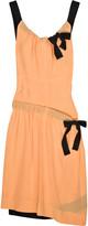 Silk-crepe asymmetric dress