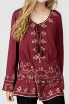 Monoreno Long Embroidered Top