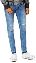 Topman Men's Ripped Spray On Skinny Fit Jeans