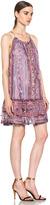 Isabel Marant Vally Paisley Silk Gauze Dress in Violet Blue