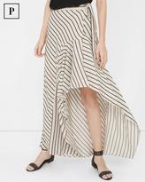 White House Black Market Petite Stripe Wrap Maxi Skirt