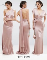 TFNC WEDDING Multiway Maxi Dress in Sheen