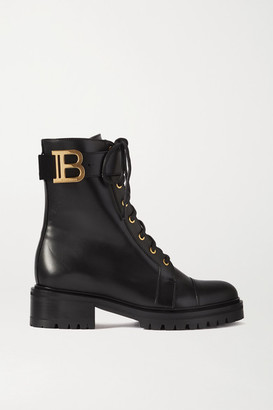 Balmain Ranger Lace-up Leather Boots - Black
