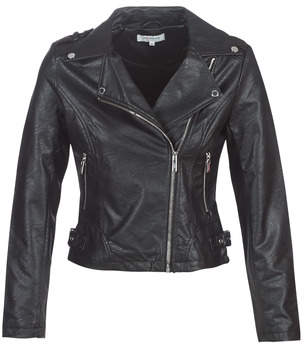 Morgan GARA women's Leather jacket in Black