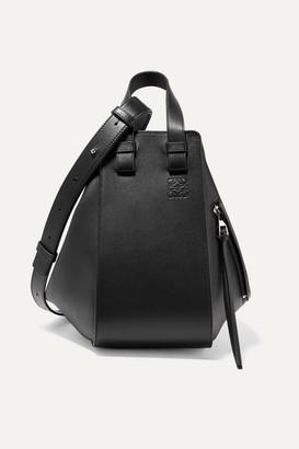 Loewe Hammock Small Textured-leather Shoulder Bag - Black