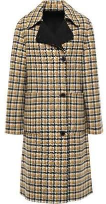 Claudie Pierlot Glorieux Checked Wool-blend Felt Coat