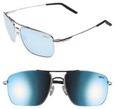 Revo Men's 'Groundspeed' 59Mm Polarized Aviator Sunglasses - Chrome/ Blue Water