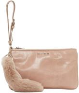 Miu Miu Pink Leather & Fur Pouch