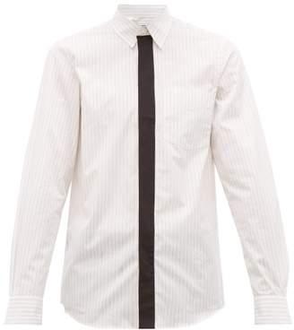 Stella McCartney Nicholas Contrast-trim Pinstriped Shirt - Mens - White
