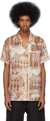Acne Studios Brown and Off-White Rellah Theatre Shirt
