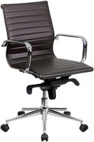 Asstd National Brand Mid Back Contemporary Leather Office Chair