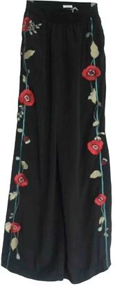 Vilshenko Black Silk Trousers