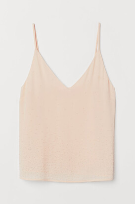 H&M Bead-embroidered strappy top