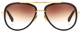 Dita Eyewear Mach Two 18kt gold-plated acetate sunglasses