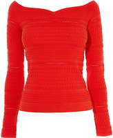Karen Millen Perforated Knit Top