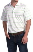 Peter Millar Alex Polo Shirt - Key Lime Stripe, Short Sleeve (For Men)