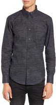 Naked & Famous Denim Men's Kimono Waves Print Sport Shirt