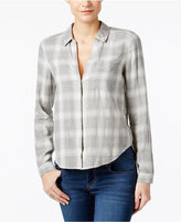 Calvin Klein Jeans High-Low Plaid Shirt