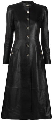 Temperley London Midnight leather coat