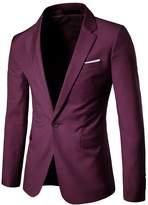 K3K Mens Slim Fit Casual One Button Business Suit Blazer Jacket 9 Colours